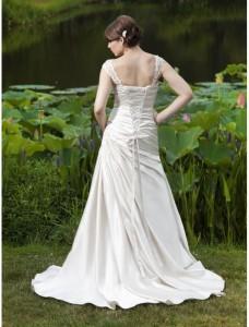 1.  Popular A-Line Dress for Brides