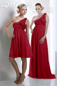 10. One Shoulder Red Dress