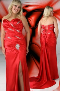 10. Slit Ball Gown Prom Dress