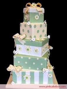 10. Stacked Box Cake
