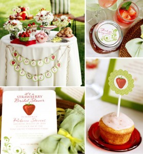 10. Strawberry Theme Bridal Shower