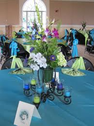 2. A Glowing Centerpiece for Your Guests Tables