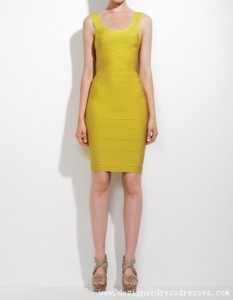 2. Knee Length Bandage Dress