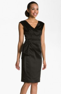 2. Maggy London Stretch Satin Sheath Dress