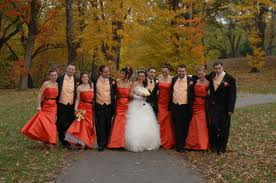 3. Warm Colors For The Autumn Bridesmaid