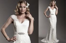 5. Lace Gown with Capped Sleeves Perfect for Spring
