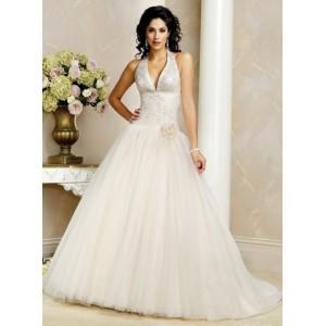 6.  Halter Top Wedding Dress