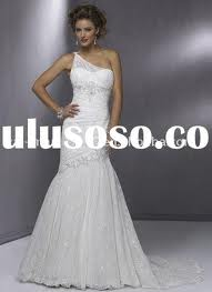 6. One Shoulder Lace Wedding Dress for Spring