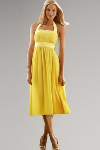 8. Empire Waist Bridesmaid Dress