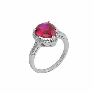 9. Ruby Pear Shaped Engagement Ring