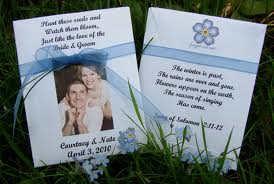Forget Me Not Postcard Seed Packet