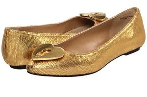 6. Gold Ballet Flats
