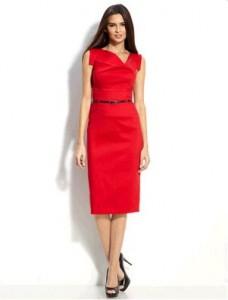 6. Knee-length Hemline Dress