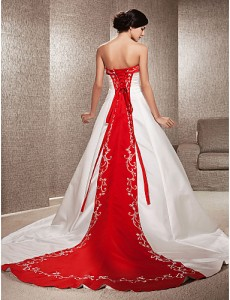 7. Chapel Train Wedding Dress