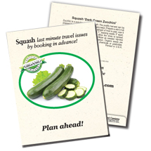 7. Organic Zucchini Seed Packet