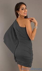9. Short One Sheer Sleeve Dress