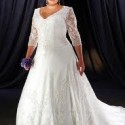 Ten Beautiful Plus Size Wedding Dresses with Sleeves