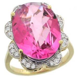 14k-Gold-Oval-Pink-Topaz-Halo-Engagement-Ring