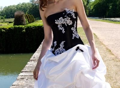 Black Wedding Dress With Corset Back Behind 2