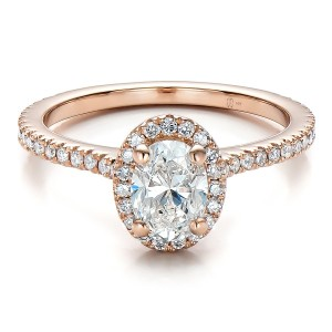 Custom-Rose-Gold-and-Diamond-Halo-Engagement-Ring-flat-100741