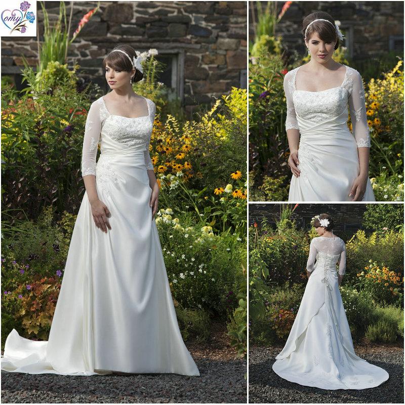 dazzling long sleeve wedding dresses