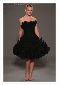 Romona Keveza short black dress