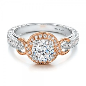 Rose-Gold-and-Diamond-Halo-Engagement-Ring-Kirk-Kara-flat-100715