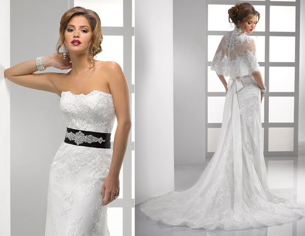 Classic And Elegant Wedding Dresses With Beautiful Lace: Ten Elegant Black And White Wedding Dresses