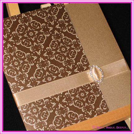 wedding_invitations_ _fold__lock pocket_mocha_buckle_6i some wedding invitation kits - Do It Yourself Wedding Invitation Kits