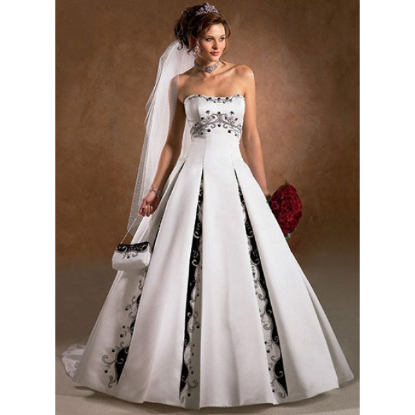 Black And White Wedding Gowns: Ten Elegant Black And White Wedding Dresses