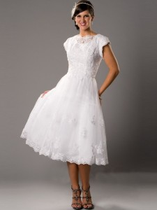 tea_length_square_chiffon_wedding_dresses