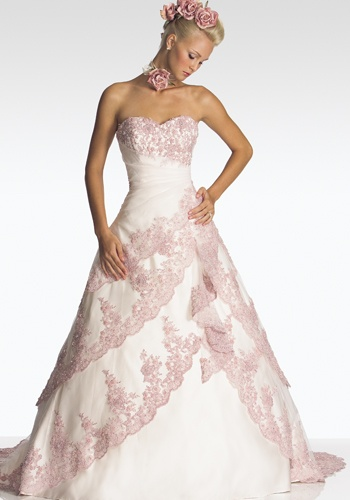 White And Pink Camo Wedding Dresses 72
