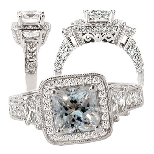 ten amazing white sapphire engagement rings bestbride101. Black Bedroom Furniture Sets. Home Design Ideas