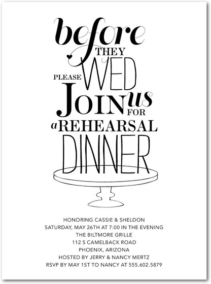 10 affordable places to find rehearsal dinner invitations, Wedding invitations
