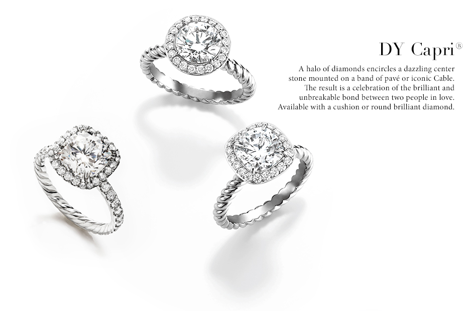 8 the capri selection of engagement rings - David Yurman Wedding Rings