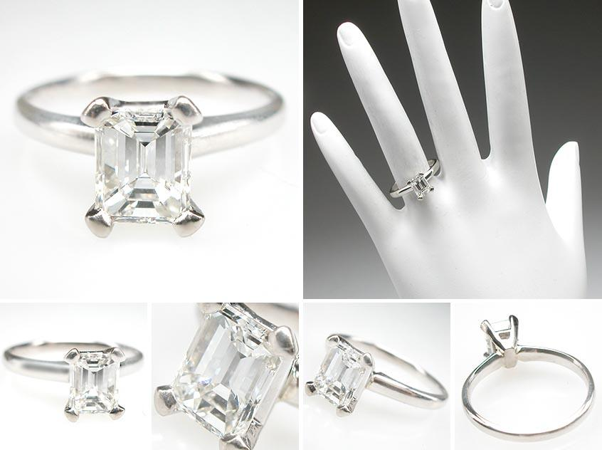 emerald cut diamond ring engagement ring and then buying another band
