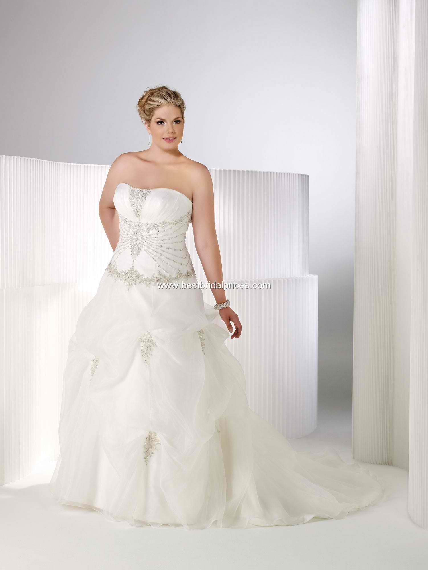 Top 10 plus size wedding dresses for the gorgeous bride for Best wedding dress styles for plus size brides