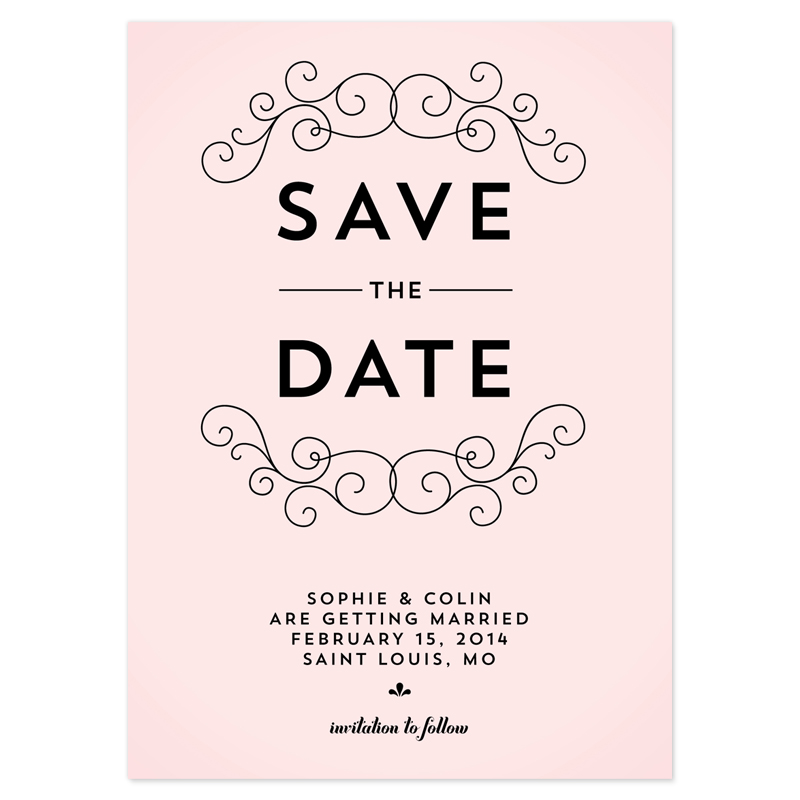 Save The Date Wedding Invitations Online. Gold Foil Wedding ...