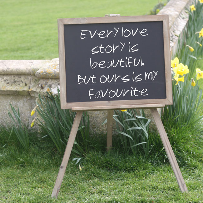 7-trending-wedding-reception-details-for-summer-2014-blackboard-easel-large-wedding-sign-50-The-Wedding-of-my-Dreams-1