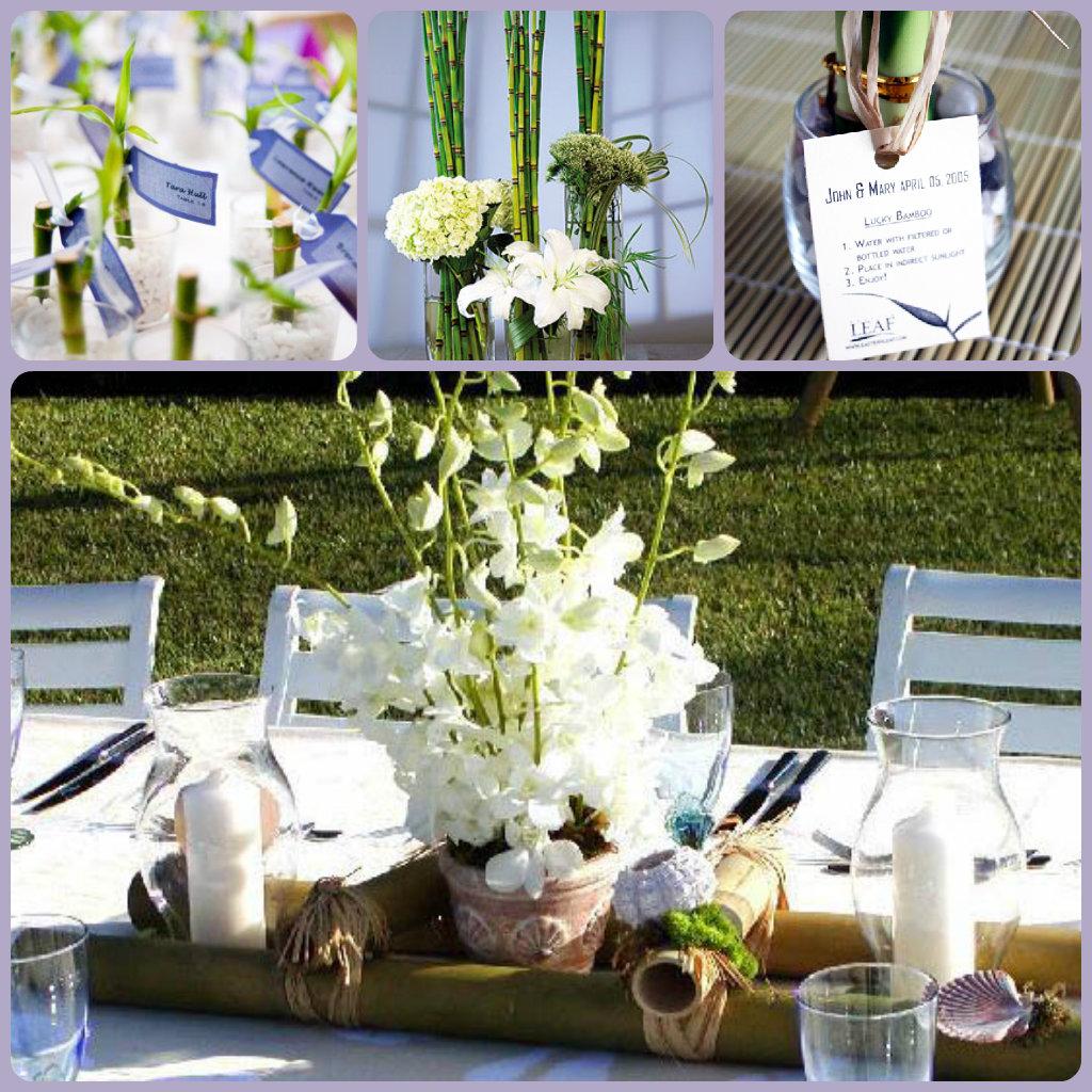 Top 10 eco friendly wedding reception decorations bestbride101 bamboo wedding decorations junglespirit Choice Image