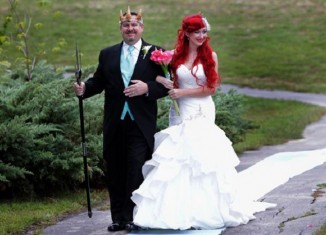 little mermaid themed wedding
