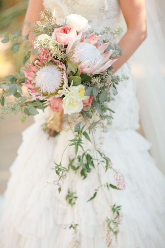 exotic cascading bouquet