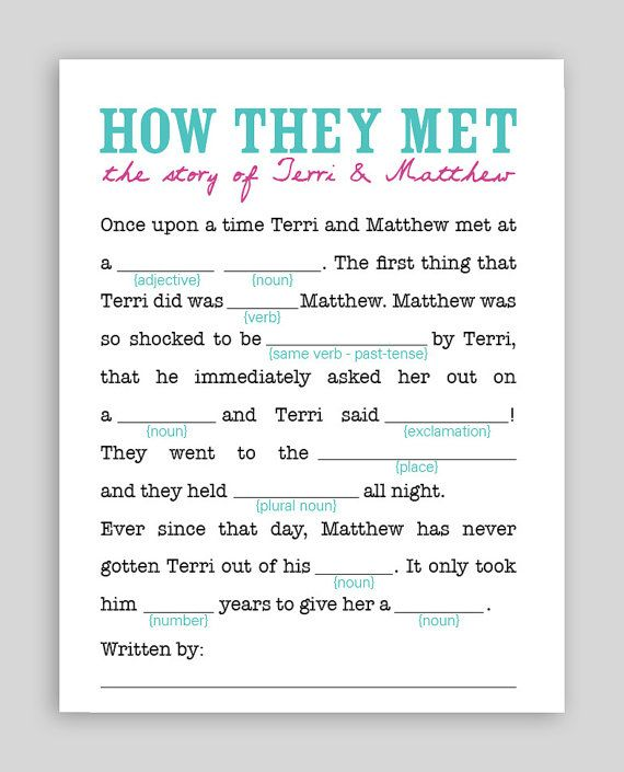 photograph regarding Free Printable Wedding Mad Libs Template called 15 Insane Libs for your Marriage BestBride101