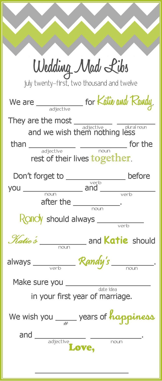 Clean image regarding funny wedding mad libs printable