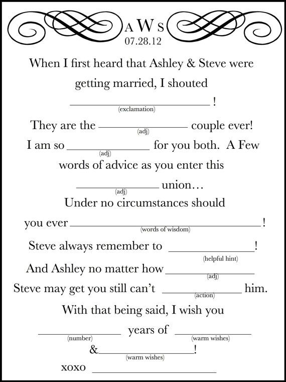 wedding mad lib 4