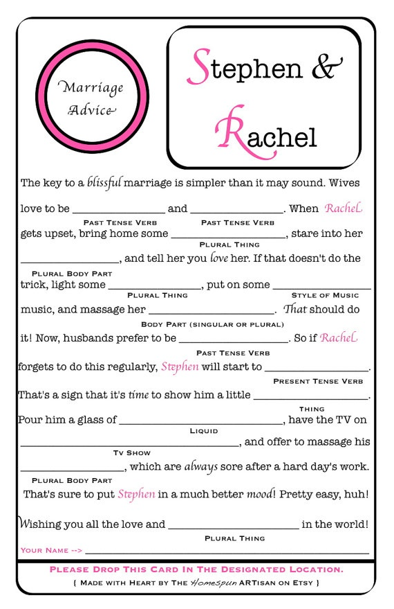 wedding mad lib 6