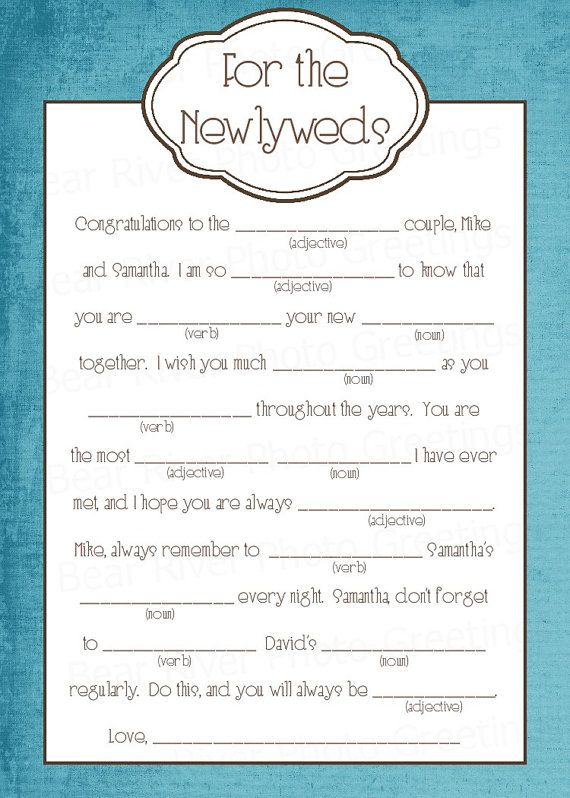 wedding mad lib 8