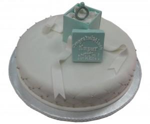 1. Engagement Ring Cake