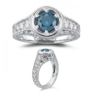 1. Vintage Style Blue Diamond