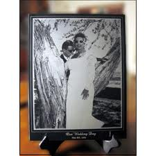 10. Personalized Photo Marble Plaque